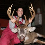 Beginners Luck! Alyssa Tavoletti bagged this buck during her first trip with a bow. This 13-point was shot with a crossbow in Monroe County, Ohio on December 29.