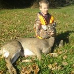 9-year-old Garrett Roach got his very first deer this year during Ohio's youth season. He was with his dad, Dennis. Garrett has been hunting with his dad for about 3 years.