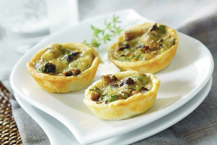 Mushroom and Onion Tartlets