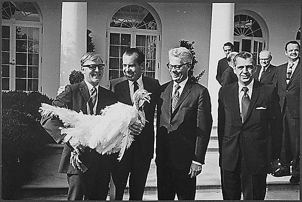 Harry Truman receiving a turkey