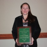 Heidi Beck represented her father, R. Wayne Harpster, new enshrinee to the Pa. Holstein Association Hall of Fame.