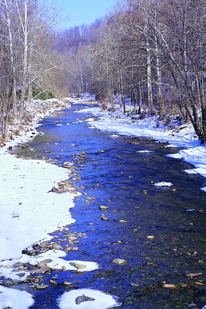 photo of a winter stream