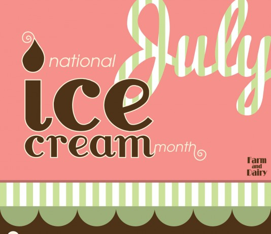 national ice cream month infographic