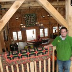 Rick Molnar Jr., in the second story loft of the new farm market at Molnar Farms, Poland, Ohio.