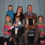 Allen Gahler, of Graytown, Ohio, received the Ohio Cattlemen's Association Young Cattleman of the Year award. Gahler and his wife, Susie, have four children, triplets Lilly, Griffin and Addison (right), and Carrigan.