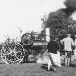 (Submitted by Merwyn Brenner)  Merwyn and Matilda Brenner, of Dalton, Ohio, share this photo from October 1962, of threshing at the Dale Fasnacht farm near Massillon, Ohio.