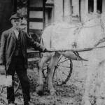 (Submitted by Wayne Bricker)  This 1905 photo captured Joseph Brokaw delivering milk in Flushing, Ohio. His great-grandson, Wayne Bricker, of Bolivar, Ohio, shared the photo with us.