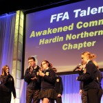"Hardin FFA talent performing ""Radioactive."""
