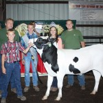 Taylor Lowmiller was the intermediate dairy beef feeder showmanship winner.