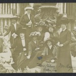 Photographic post card, Carrie Fulton Phillips and friends in Venice, Italy, circa May 1912.
