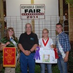 Cassady Kingdom's 187-pound hog reserve best of show hog carcass sold to Art Gruskiewicz for $4.25 a pound.