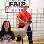 Mason Taylor's 129-pound reserve champion lamb was purchased by Allegra Companies for $16.50 a pound. Allegra Companies was represented by owner James Allegra's daughter, Samantha.