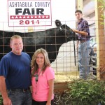 Cody Kanicki's 1,465-pound reserve champion and reserve best of show market steer was purchased for $2.75 a pound by Mike and Cari Ellsworth of Mike Ellsworth Construction.