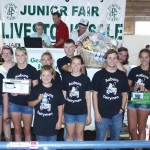 The Auburn Dairymen 4-H Club dairy basket sold for $1,500 to Ed Babcock of the Junction Auto Family.