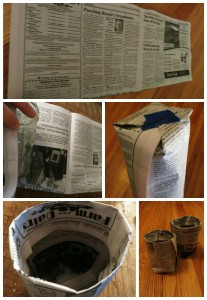 Newspaper Seed Starting Container