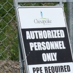 chesapeake well site sign