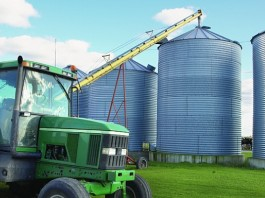 loading grain bins