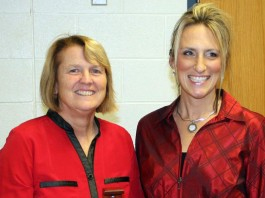 Marge Forbush with Kelly Riley of Wayne SWCD Education Specialist