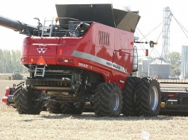 Massey Ferguson combine.Farm Science Review