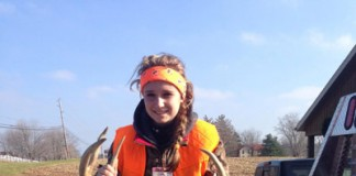 Kylie McLean with nine-point buck
