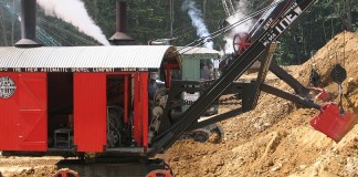 vintage steam shovel