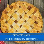 """lattice apple with text """"State Fair Blue Ribbon Recipes"""""""