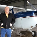 Butch Fisher with Cessna 140