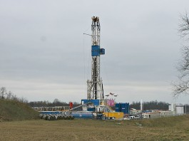 Ohio oil and gas well rig