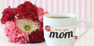 flowers and mom mug