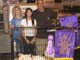 Butler Farm Show grand champion chickens 2014