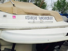 """Knot Worthy"" boat"