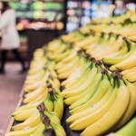 bananas at supermarket