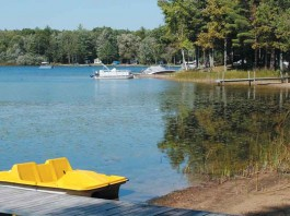 paddle boat at lake