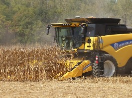 New Holland corn combine