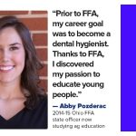 Abby Pozderac FFA Ohio Farm and Dairy